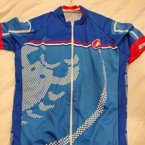 Castelli jersey road bike cycling blue